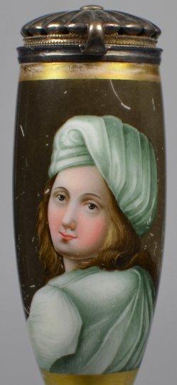 Guido Reni (1575-1642), Beatrice Cenci, Porzellanmalerei, Pfeifenkopf, D1815