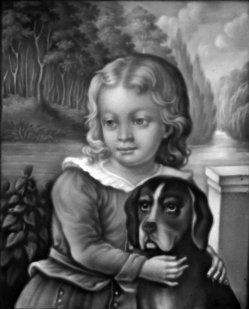 PPM 225 Knabe mit Hund, Portrait, sw