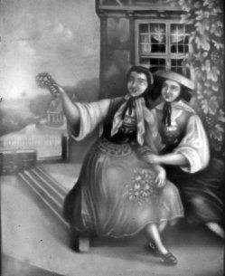 PPM 245 Altenburger Mädchen, sw, D1381-3