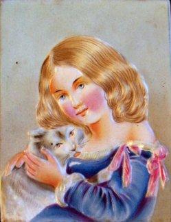PPM 254 – Kind mit Katze, koloriert