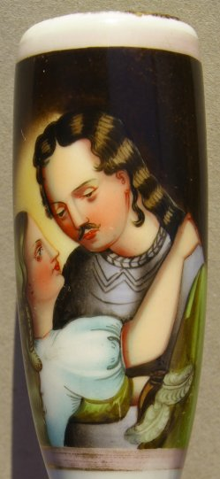 Abschied vom Krieger I, Porzellanmalerei, Pfeifenkopf, D1004