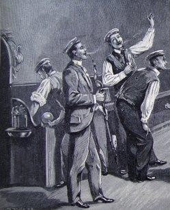 Fritz Bayerlein (1872-1955), Auf der Kegelbahn im Korpshause der Franconia-München