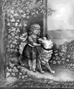 HPM 66 – Kind mit großem Hund an der Seite
