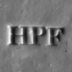 Porzellanmarke HPF (1844-1850), Lithophanie, Lithophane