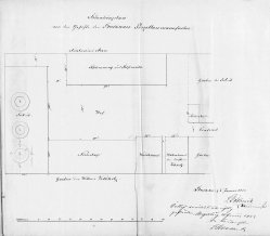 Buckauer Porzellanmanufaktur, 1852,  Situationsplan, Rep C 29, XIV d 3 Nr. 96 Bl.5