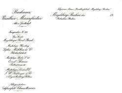 Buckauer Porzellanmanufaktur, bis 1916, Musterläger (Briefkopf)