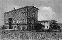 Buckauer Porzellanmanufaktur, um 1920, Arneburg, Bahnhof Kleinbahn