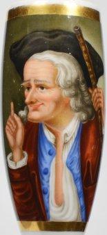 Der verliebte Alte, Porzellanmalerei, Pfeifenkopf, D1770