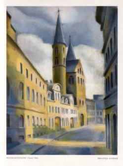 Franziska Wagner (1905-1986), Regierungsstraße, Pastell, 1944