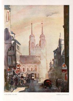 Herbert Stockmann (1913-1947), Alter Markt, Ölgemälde, 1933