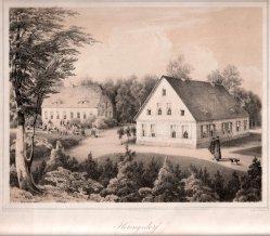 Henning, J., Heringsdorf, Gesellschaftshaus und Weißes Schloss, Lithographie nach W.v.Schack, D0163-3