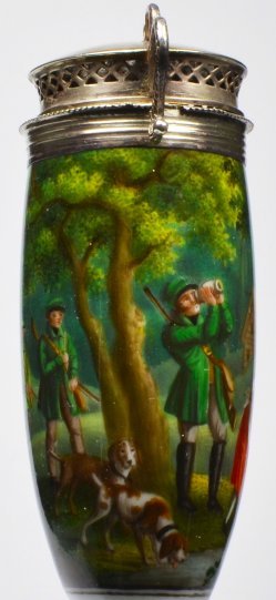 Jagdpause, Porzellanmalerei, Pfeifenkopf, D2113