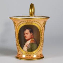 Paul Delaroche (1797-1856) Napoleon Bonaparte, Porzellanmalerei, Tasse, D2101