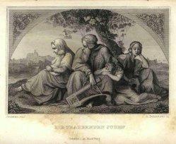 Anton (Raphael) Duttenhofer (1812-1843), Kupferstich, Die trauernden Juden, nach Bendemann, A0112