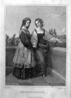 Carl August Schuler (1804-1859), Stahlstich, Die beiden Leonoren, nach Sohn, A0117