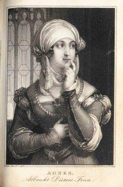 Franz Xaver Stöber (1795-1858), Kupferstich, Dürers Frau Agnes, nach J.N. Ender, A0110