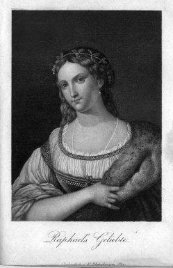 Friedrich Fleischmann (1791-1834), Stahlstich, Raphaels Geliebte, A0122