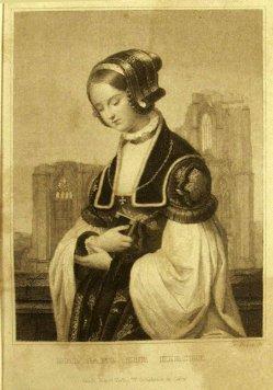 Friedrich Weber (1813-1882), Stahlstich, Die Kirchgängerin, nach Blanc, A0115