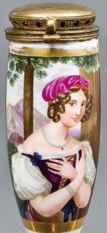 Johann Nepomuk Ender (1793 – 1854), Donna Antonia, Porzellanmalerei, Pfeifenkopf, B0057