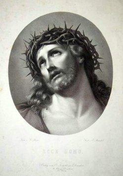 Eduard Mandel (1810–1882), Ecce Homo, nach Reni, Kupferstich, D1637