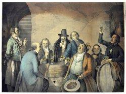 1685 Weinprobe im Keller