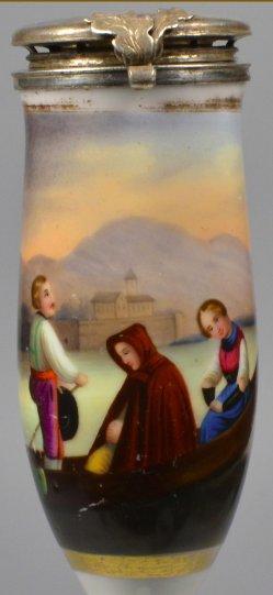 Christoph Ruben (1805-1875), Ave Maria, Porzellanmalerei, Pfeifenkopf, D1727