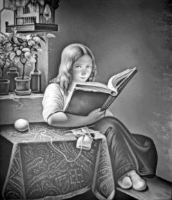 HPM 66 - Lesendes Mädchen, nach Meyer von Bremen