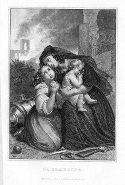 Carl Ferdinand Mayer (1798-1868), Saragossa 1808-1809; Stahlstich, A0125