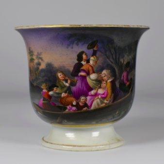 Fröhliche Familienüberfahrt, Porzellanmalerei, Tasse, D2131