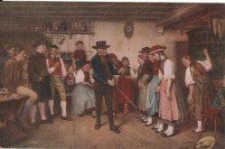 Künstlerpostkarte, Erste Tanzstunde, nach B. Vautier, D2135