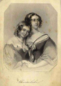 """Albert Henry Payne (1812-1902), Stahlstich, """"Schwesterliebe"""" nach Wright, A0162"""