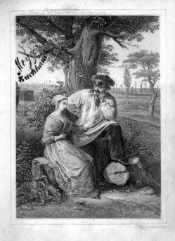 Baumann, Der Willkommensgruß 1) Stahlstich, A0159