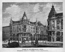 Berlin, Entwurf Eingang Kaiserwilhelmstraße um 1885, A0154