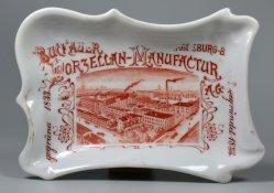 Buckauer Porzellanmanufaktur, Werksansicht um 1906, Schale,  D2142