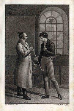 Gespräch mit langer Tonpfeife nach Heideloff, A0164