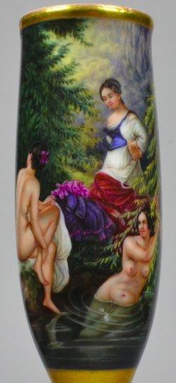 Im Waldbad, Porzellanmalerei, Erotik, Pfeifenkopf, D2143
