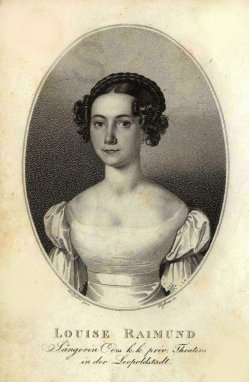 Ludwig Passini (1832-1903), Kupferstich, Louise Raimund, A0163