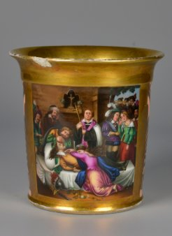 Karl Wilhelm Kolbe (1781-1853), Das Asyl am Kynast,, Porzellanmalerei, Tasse, D2176