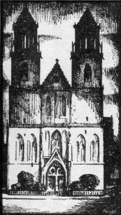 Albert Moritz Rusche (1888-1969) Magdeburger Dom, Holzschnitt um 1916, ⁄161, Umschlag⁄