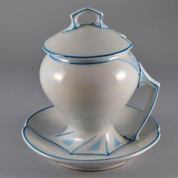 Buckauer Porzellanmanufaktur, Senftopf um 1904, D1037