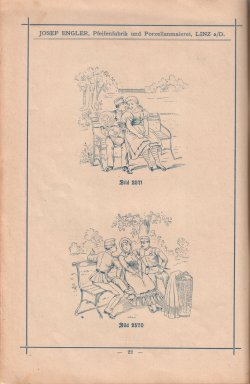 Porzellan-Manufaktur und Pfeifenfabrik Engler, Linz a.D. Preis-Kurant um 1900, D0974-S 22