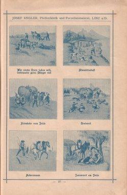 Porzellan-Manufaktur und Pfeifenfabrik Engler, Linz a.D. Preis-Kurant um 1900, D0974-S 27