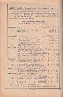 Porzellan-Manufaktur und Pfeifenfabrik Engler, Linz a.D. Preis-Kurant um 1900, D0974-S 38