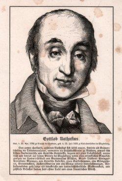 Gottlob Nathusius (1760-1835), Halbportrait, Holzstich 1857, D1732
