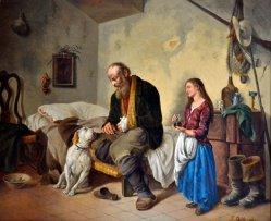 Guglielmo Stella (1828-1888), Gemälde, Der treue Gefährte 1878, D2035