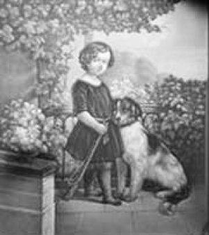 HPM 291 – Kind mit Stock und Hund