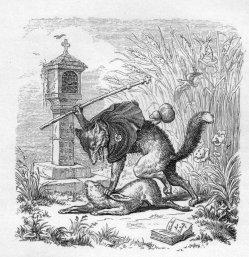Julius Schnorr, Zeichnung, Reineke Fuchs, Gesang 7, nach W. v. Kaulbach, D2104-7
