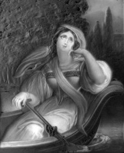 KPM 278 – Louise, in einem Kahn sitzend, nach Ender