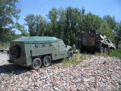 Schützenpanzerwagen für Kinder, Präsentation in Schönebeck vor Kauf 2005