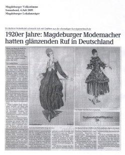 04.07.2009 1920er Jahre: Magdeburger Modemacher hatten glänzenden Ruf in Deutschland